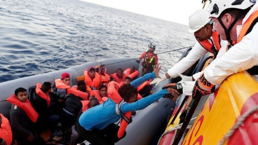 إنقاذ مهاجرين في البحر المتوسط - أرشيف