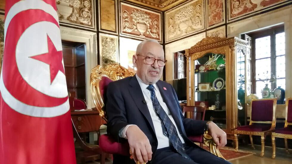 رئيس مجلس النواب التونسي راشد الغنوشي