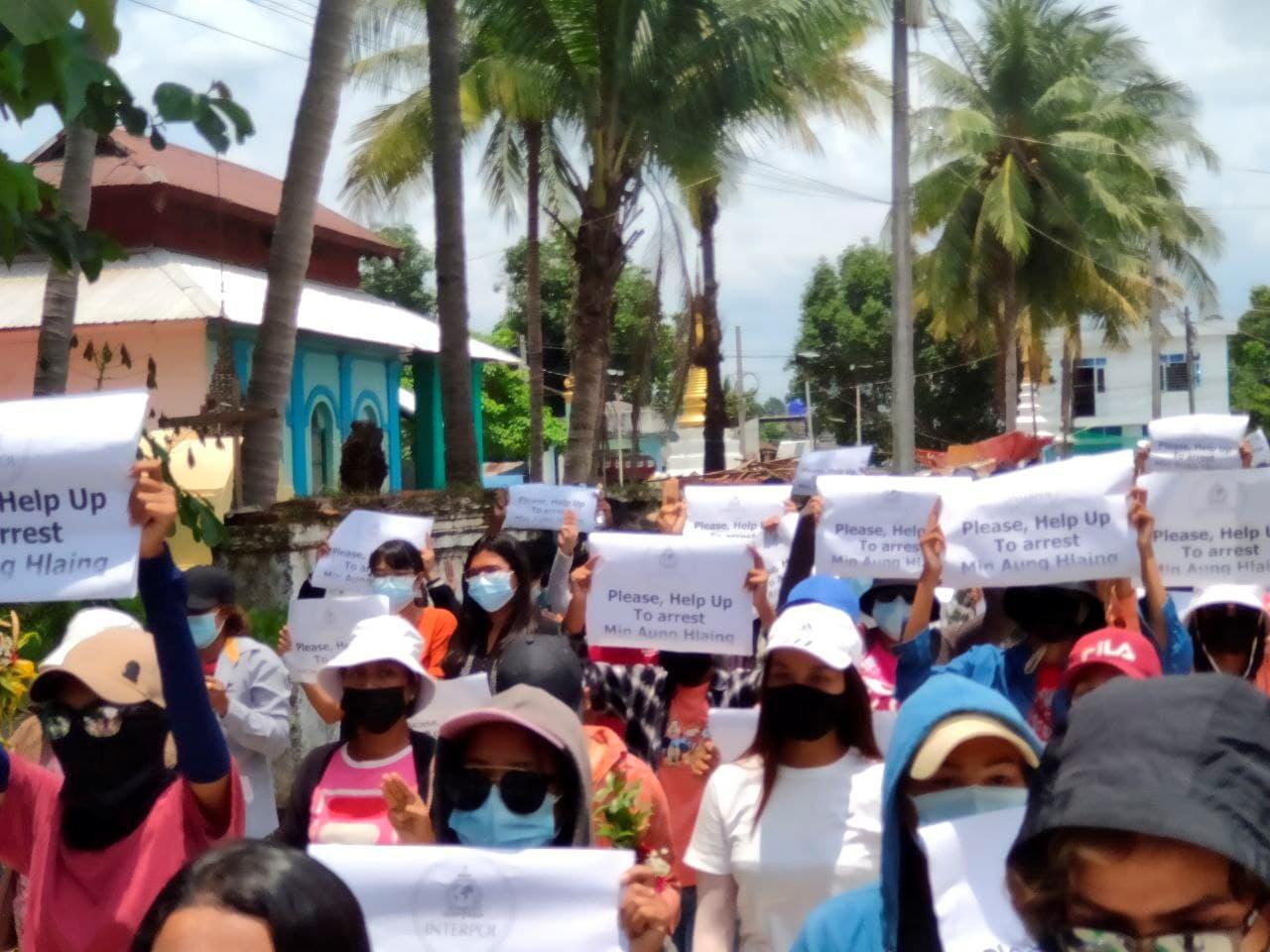 احتجاجات شعبية في ميانمار