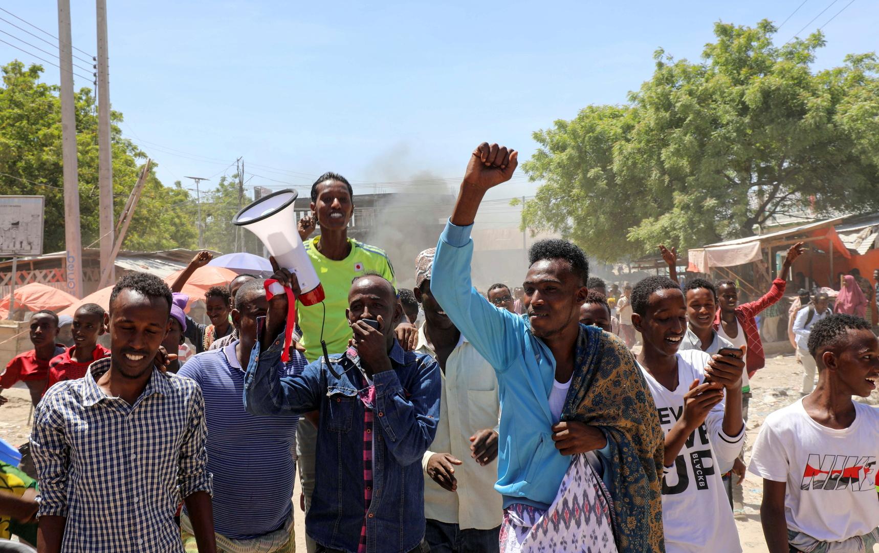 احتجاجات في العاصمة الصومالية مقديشو