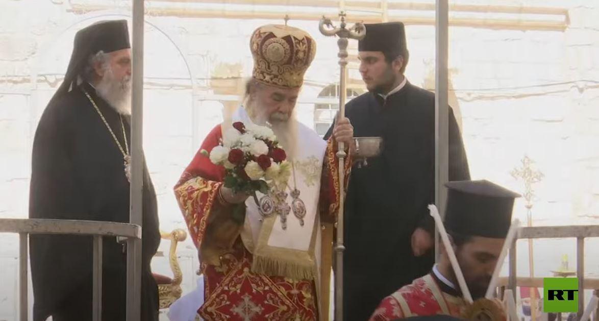 بطريرك الروم الأرثوذكس يشارك في مراسم