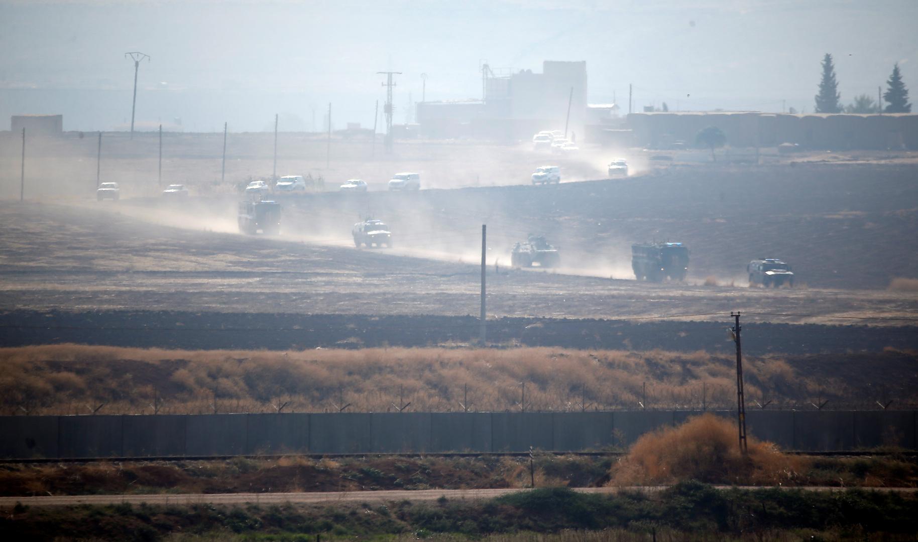 دورية روسية تركية مشتركة شمال شرق سوريا.