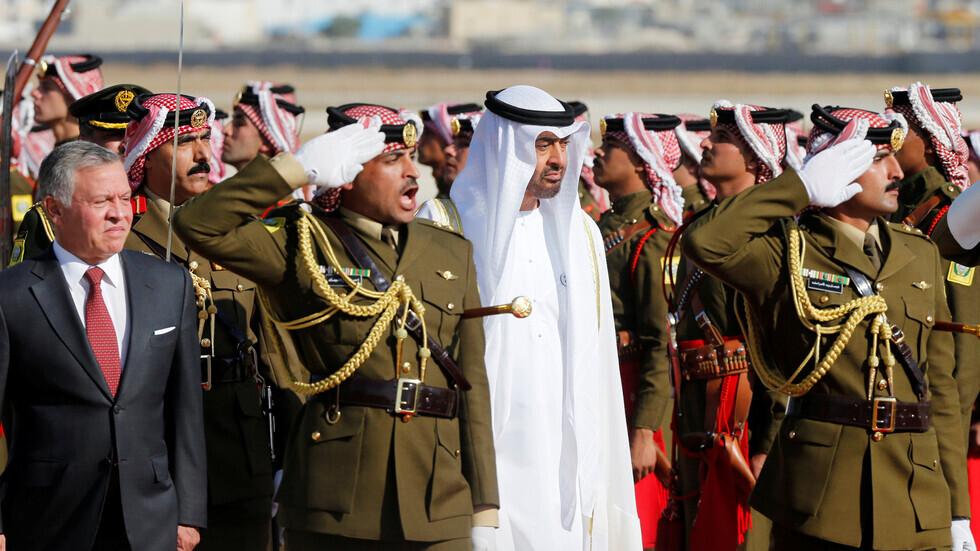 محمد بن زايد يعزي ملك الأردن في وفاة الأمير محمد بن طلال