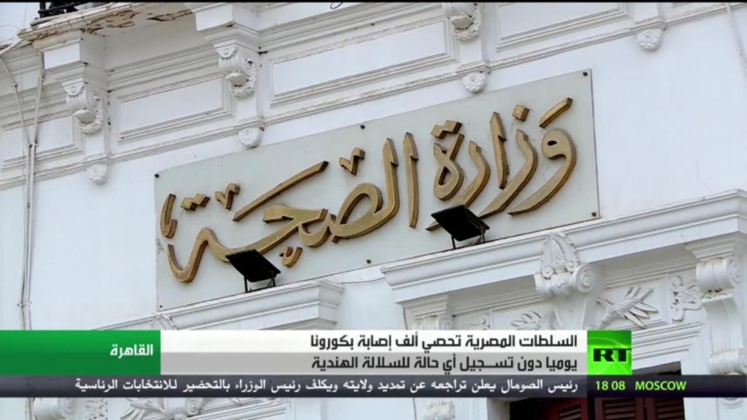مصر.. تسجيل ألف إصابة بفيروس كورونا يوميا