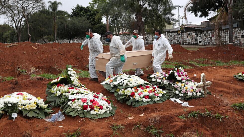 البرازيل تسجل 66964 إصابة و2656 وفاة جديدة بفيروس كورونا