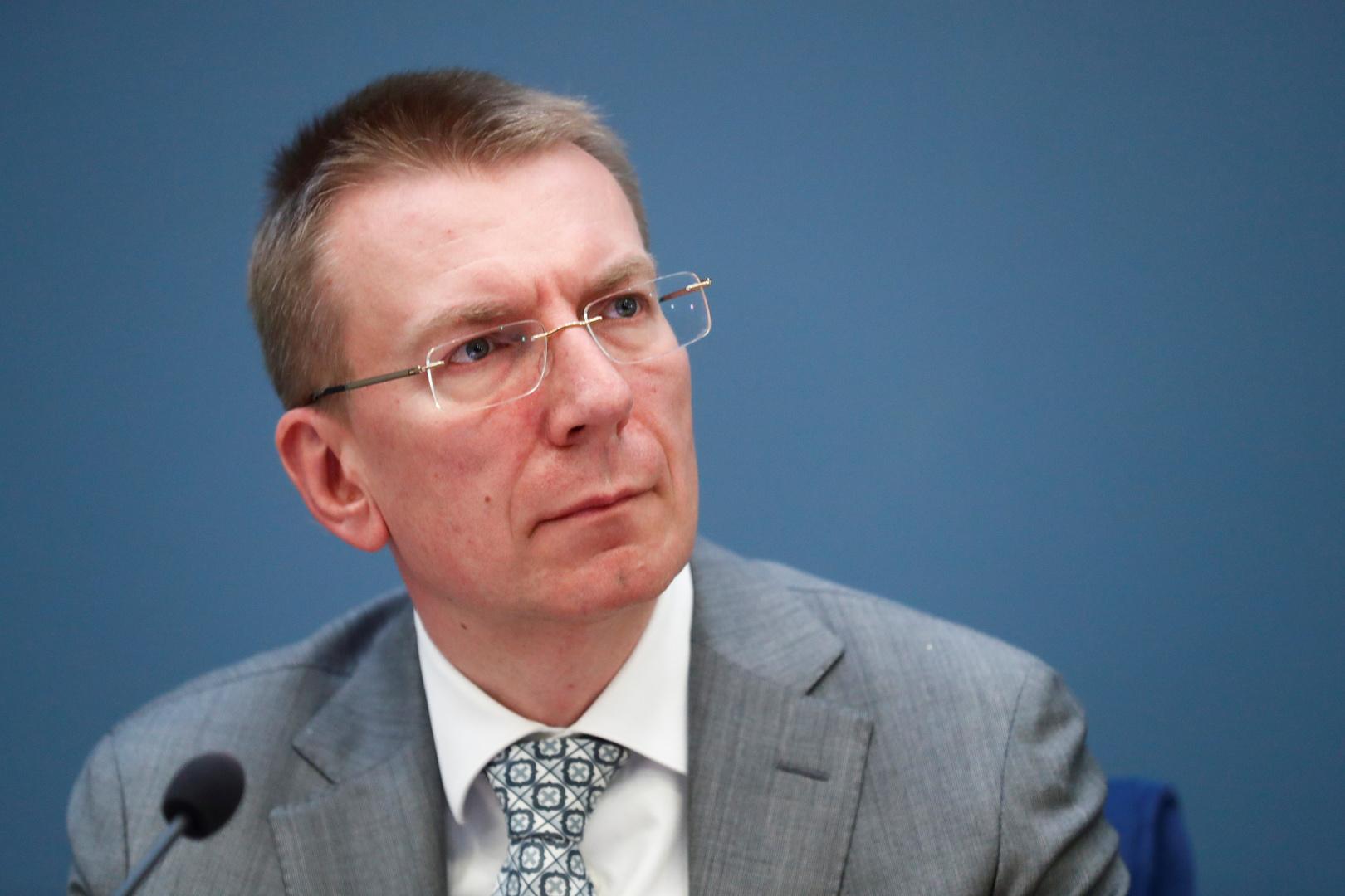 وزير خارجية لاتفيا إدغار رينكيفيتش