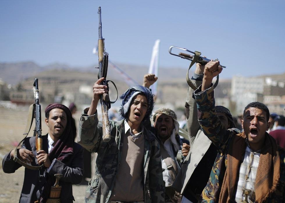 يمنيون موالون لجماعة أنصار الله الحوثية