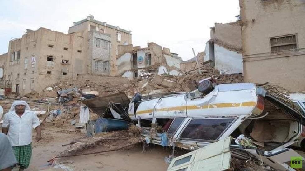 السيول تضرب مدينة تاريخية في اليمن