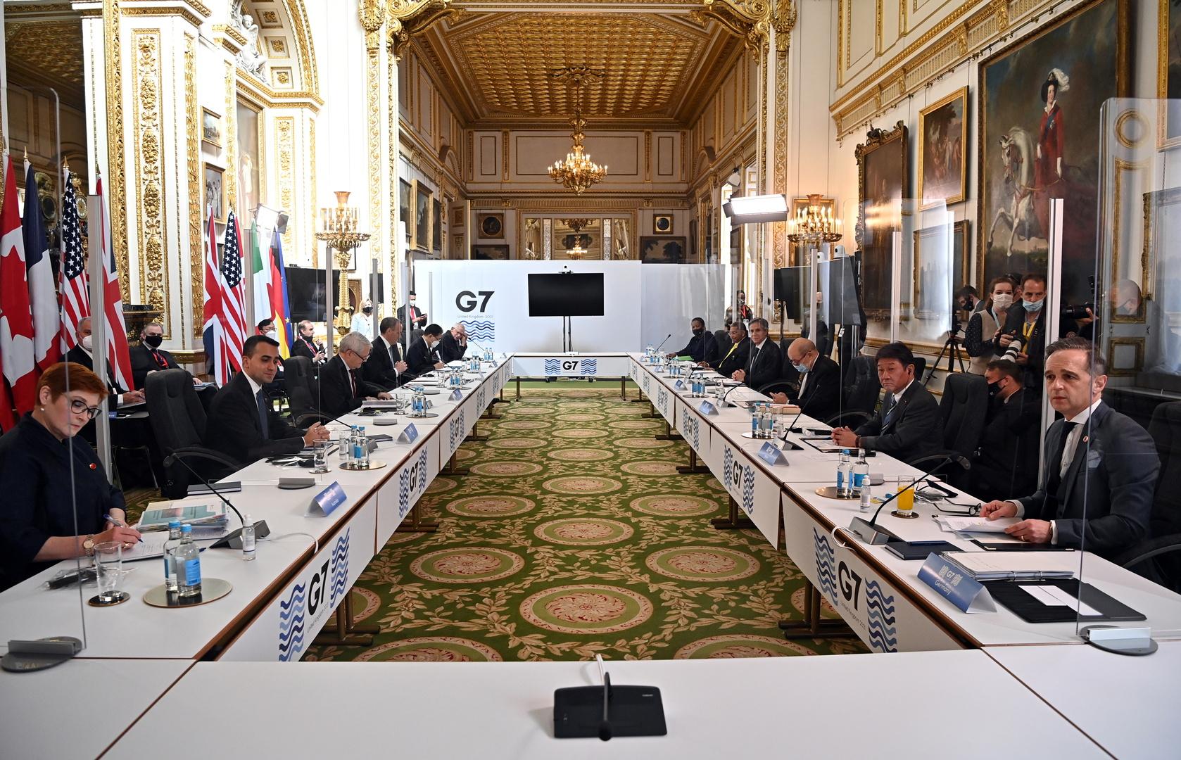اجتماع لوزراء خارجية مجموعة الدول السبع الكبار في لندن.