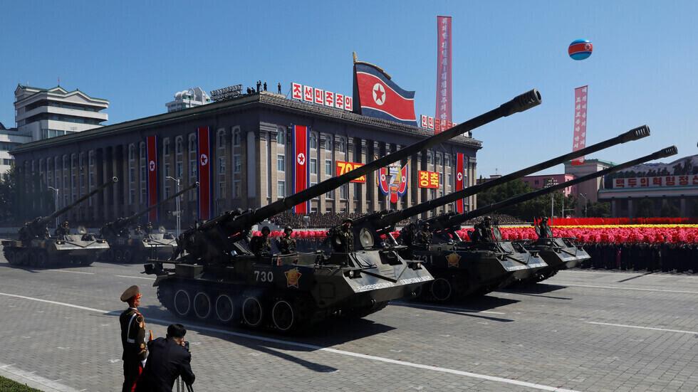 عرض عسكري في كوريا الشمالية.