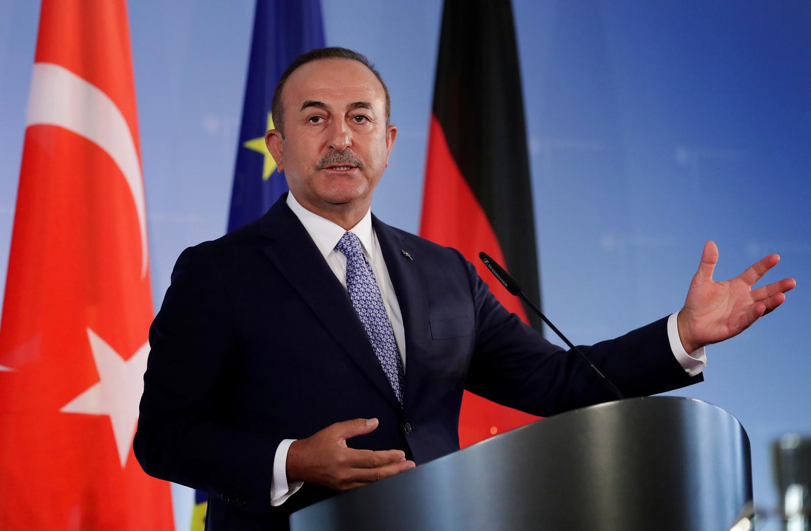 وزير الخارجية التركي مولود تشاووش أوغلو في زيارة إلى ألمانيا، أرشيف