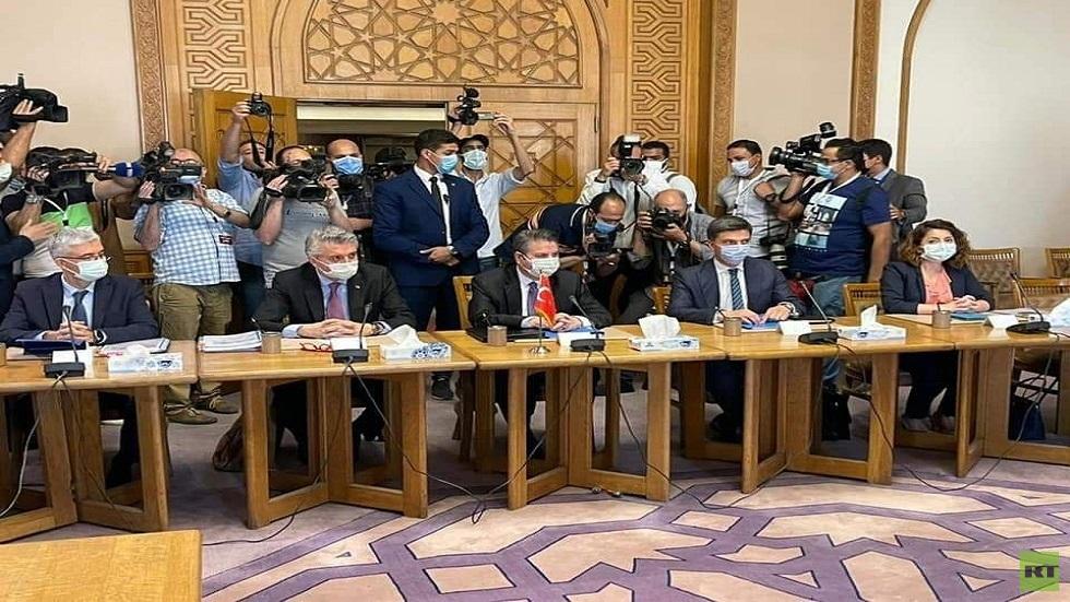 الوفد التركي في محادثات الجانبين في القاهرة