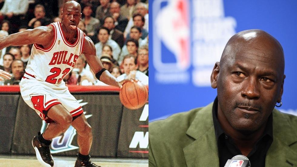 لاعب كرة السلة الأمريكي مايكل جوردان