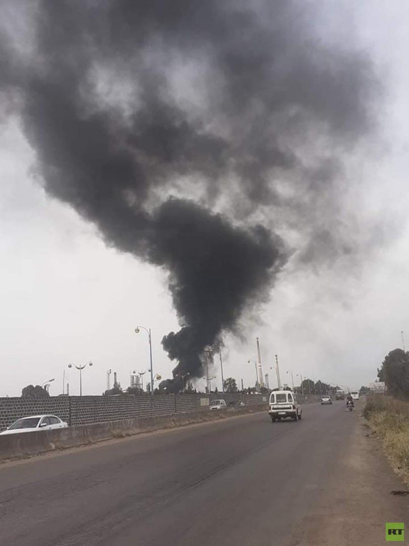 مراسلتنا: اندلاع حريق في مصفاة حمص وسط سوريا