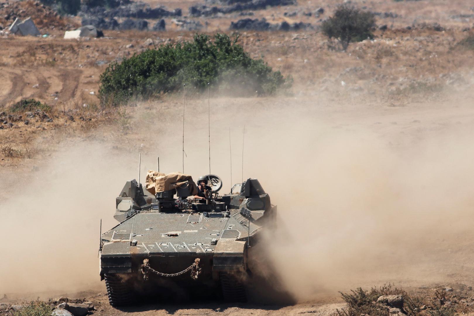 آلية عسكرية تابعة للجيش الإسرائيلي، صورة أرشيفية