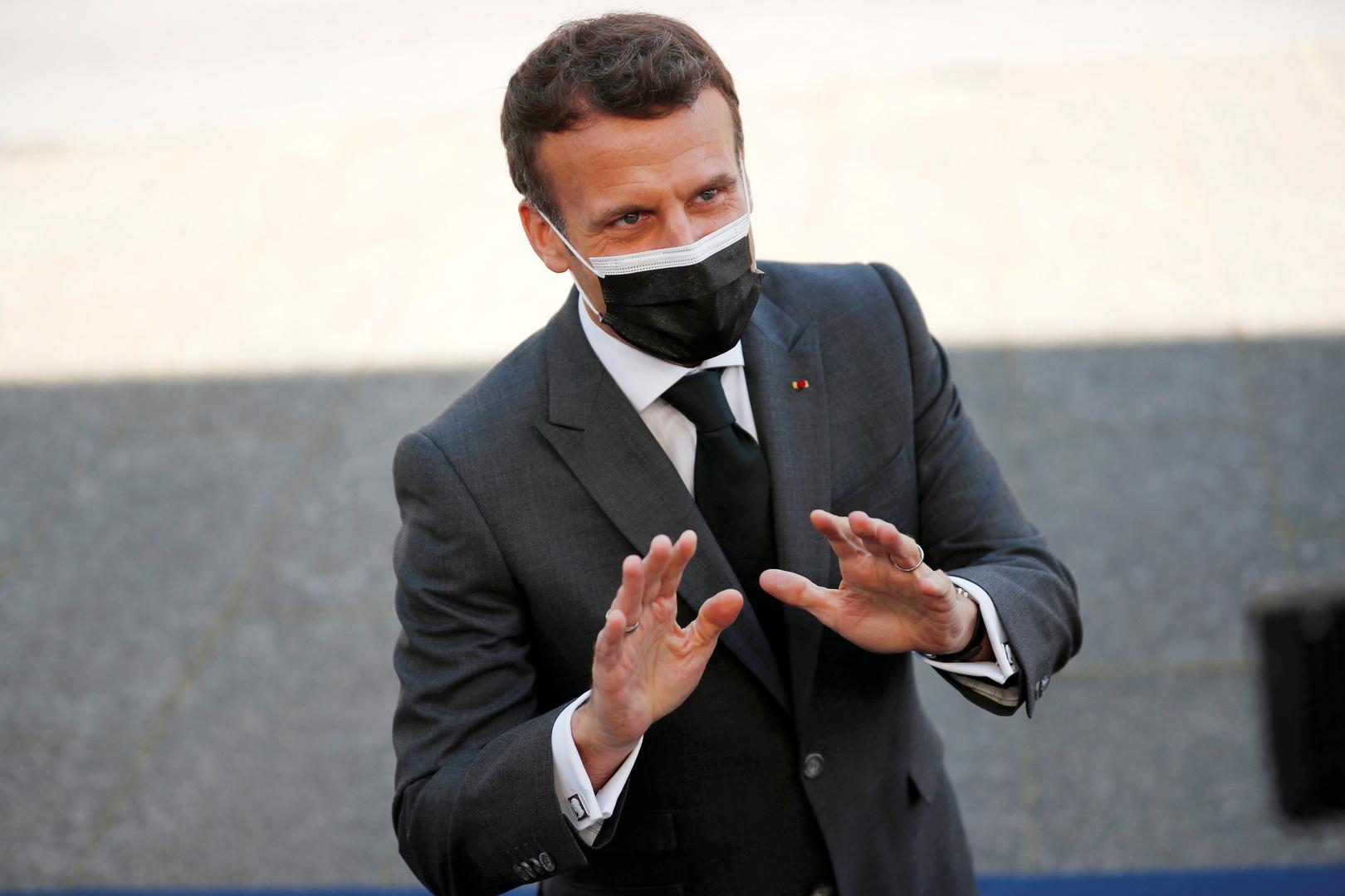 ماكرون: فرنسا لن تستخدم