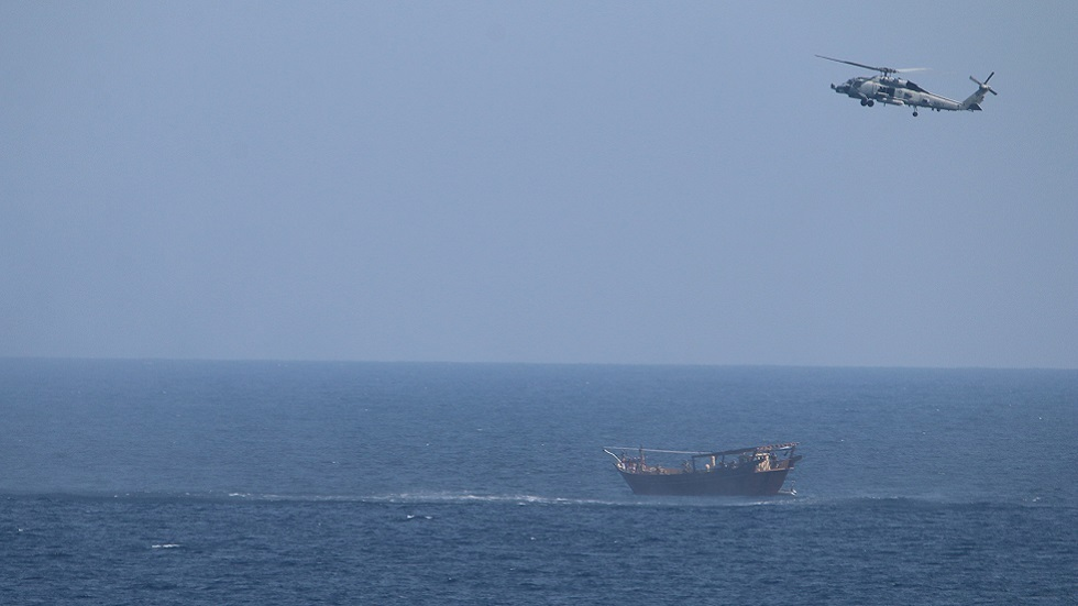 طهران تعلق على مصادرة البحرية الأمريكية شحنة أسلحة في بحر العرب