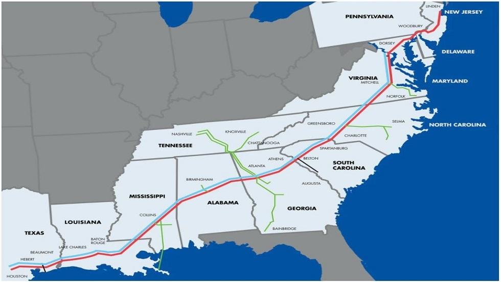 توقف أكبر خط أنابيب لنقل الوقود في الولايات المتحدة لليوم الرابع