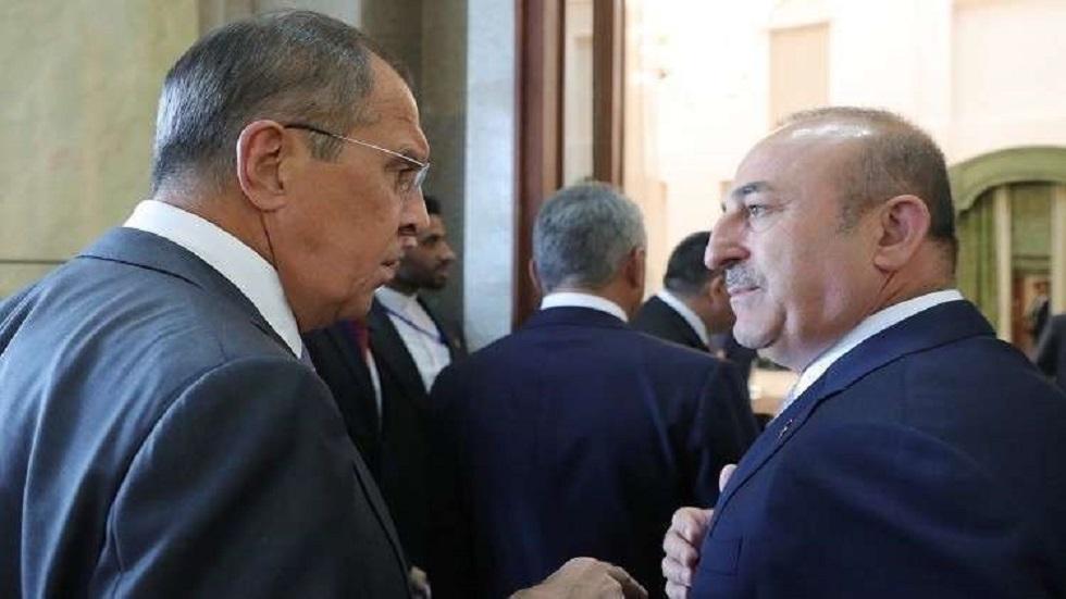 وزيرا الخارجية الروسي سيرغي لافروف ونظيره التركي مولود تشاووش أوغلو - أرشيف