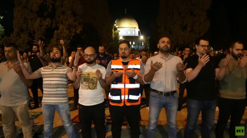 دعاء من صلاة التراويح في المسجد الأقصى نصرة لقطاع غزة
