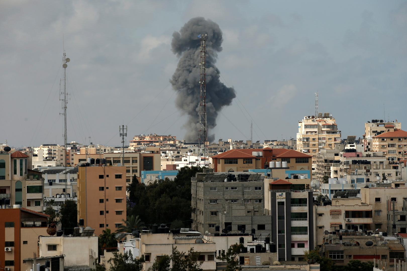 غارة إسرائيلية على قطاع غزة 12 مايو 2021