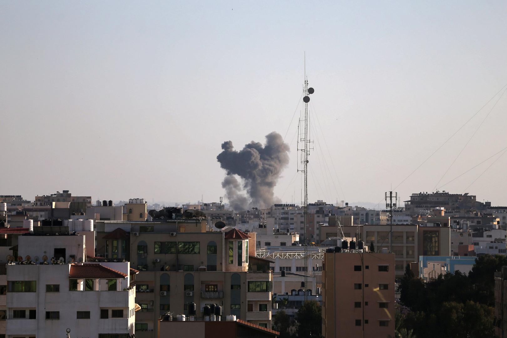 الجيش الإسرائيلي ينشر فيديو يوثق غاراته على مواقع في قطاع غزة