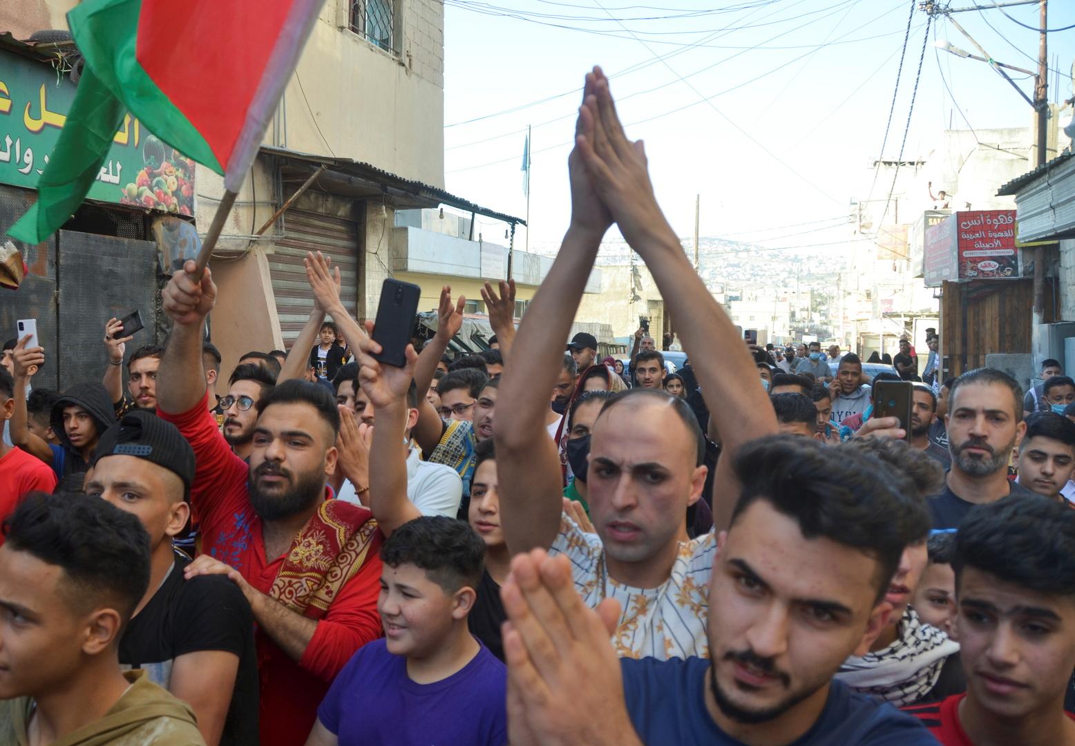 مظاهرة في عمان للتضامن مع الشعب الفلسطيني أول أيام عيد الفطر