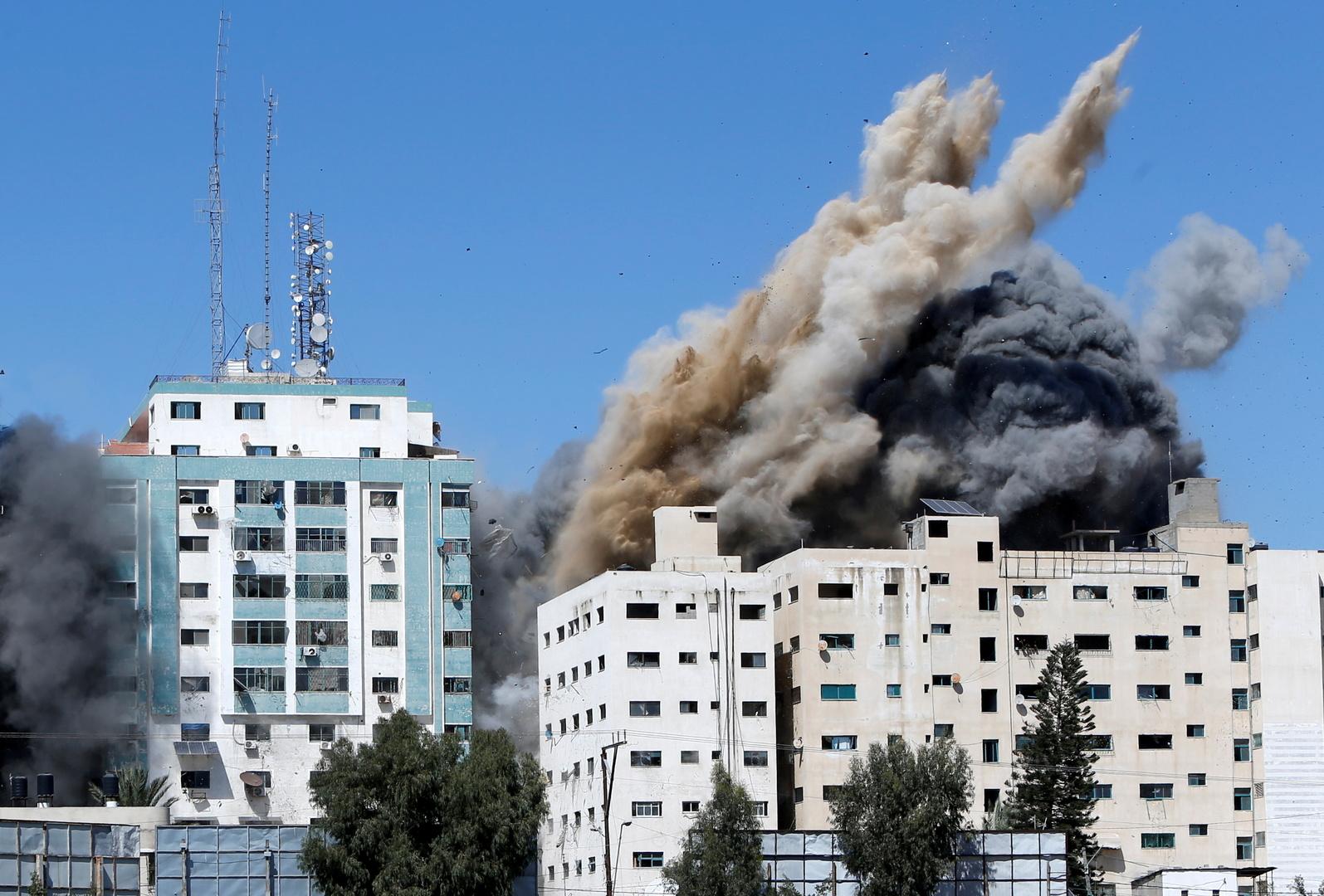 الجيش الإسرائيلي يصدر بيانا تعليقا على تدميره لبرج الجلاء