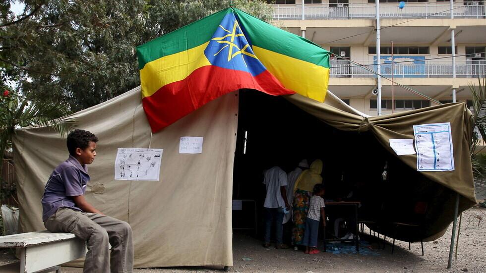 مركز اقتراع في إثيوبيا - صورة أرشيفية