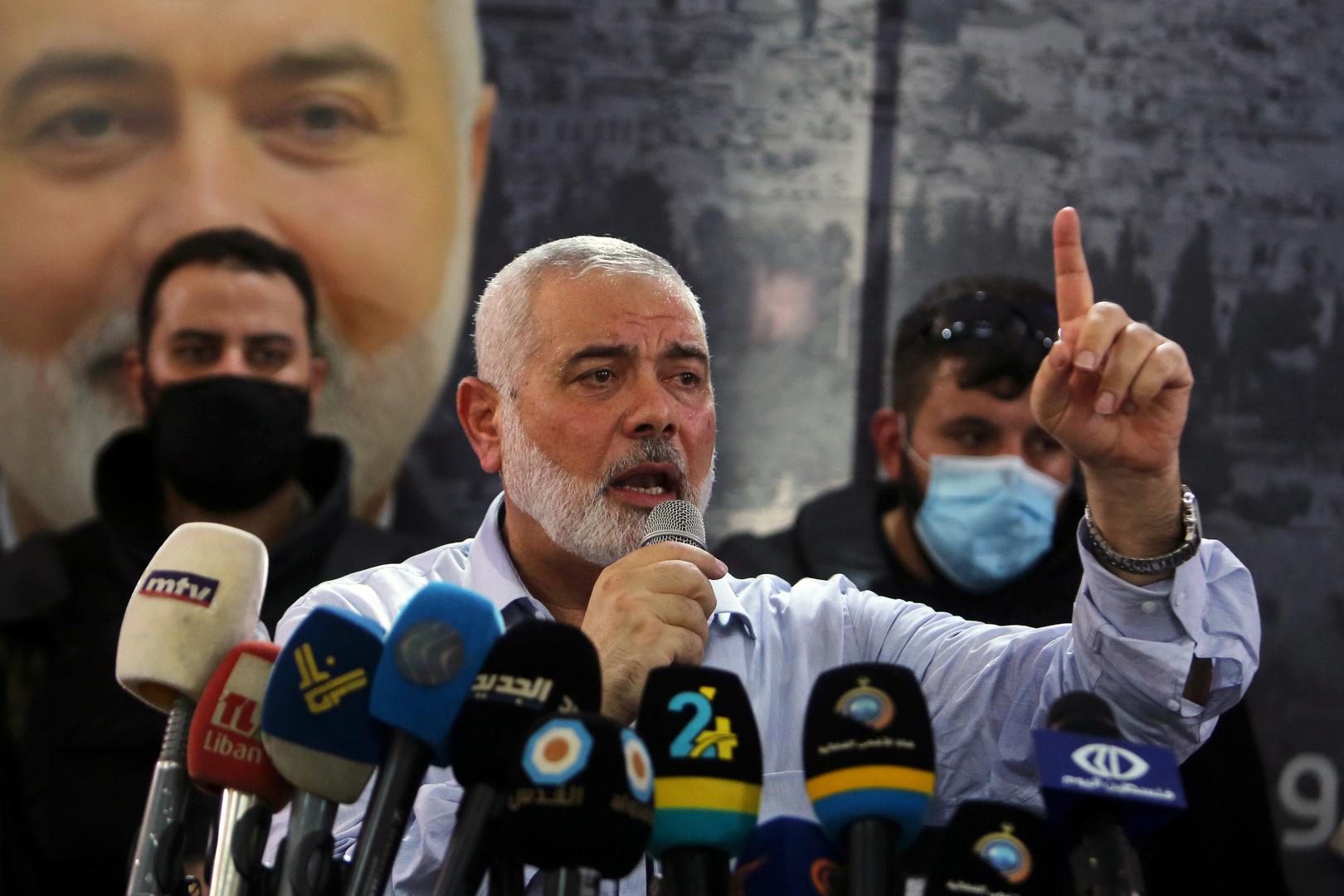 """رئيس المكتب السياسي لحركة """"حماس""""، إسماعيل هنية."""