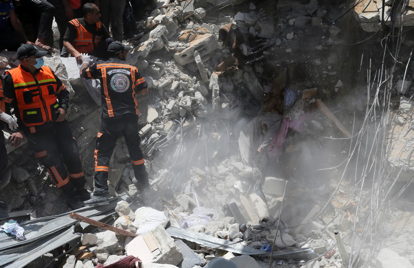 ارتفاع حصيلة قتلى الهجمات الإسرائيلية في قطاع غزة إلى 188 قتيلا بينهم 55 طفلا