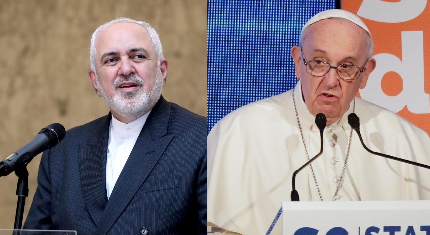 ظريف: بحثت مع بابا الفاتيكان الأوضاع في الشرق الأوسط والعقوبات الأمريكية
