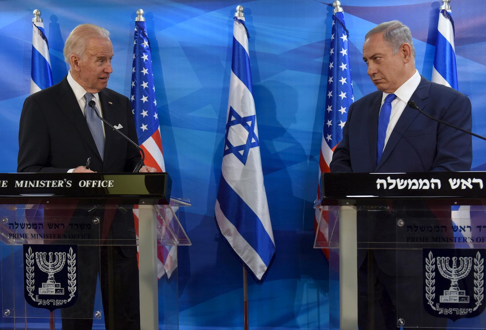الرئيس الأمريكي، جو بايدن، ورئيس وزراء إسرائيل، بنيامين نتنياهو (أرشيف).