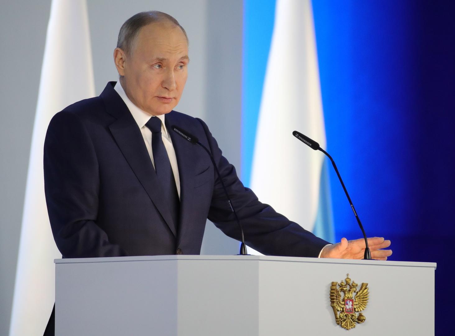 بوتين: تدهور نظام الاستقرار العالمي الاستراتيجي يثير القلق