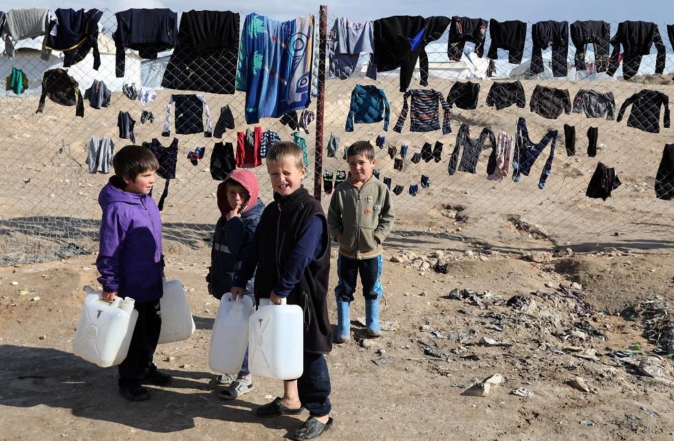 أطفال في مخيم الهول بسوريا