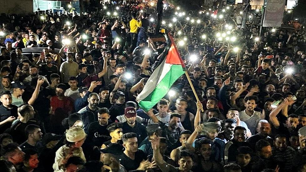 مسيرات الفرح بالهدنة تعم أرجاء الأراضي الفلسطينية