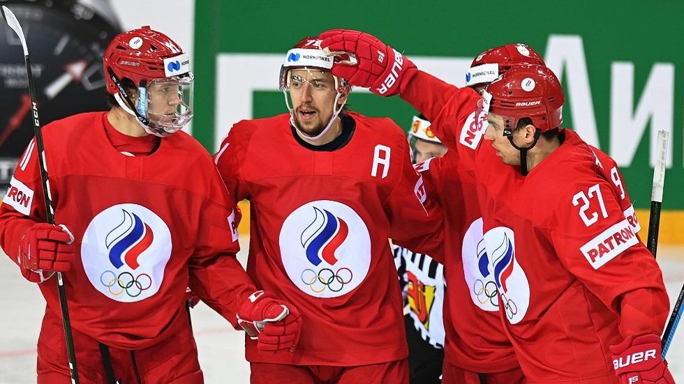 روسيا تكتسح بريطانيا بسباعية في بطولة العالم لهوكي الجليد (فيديو)