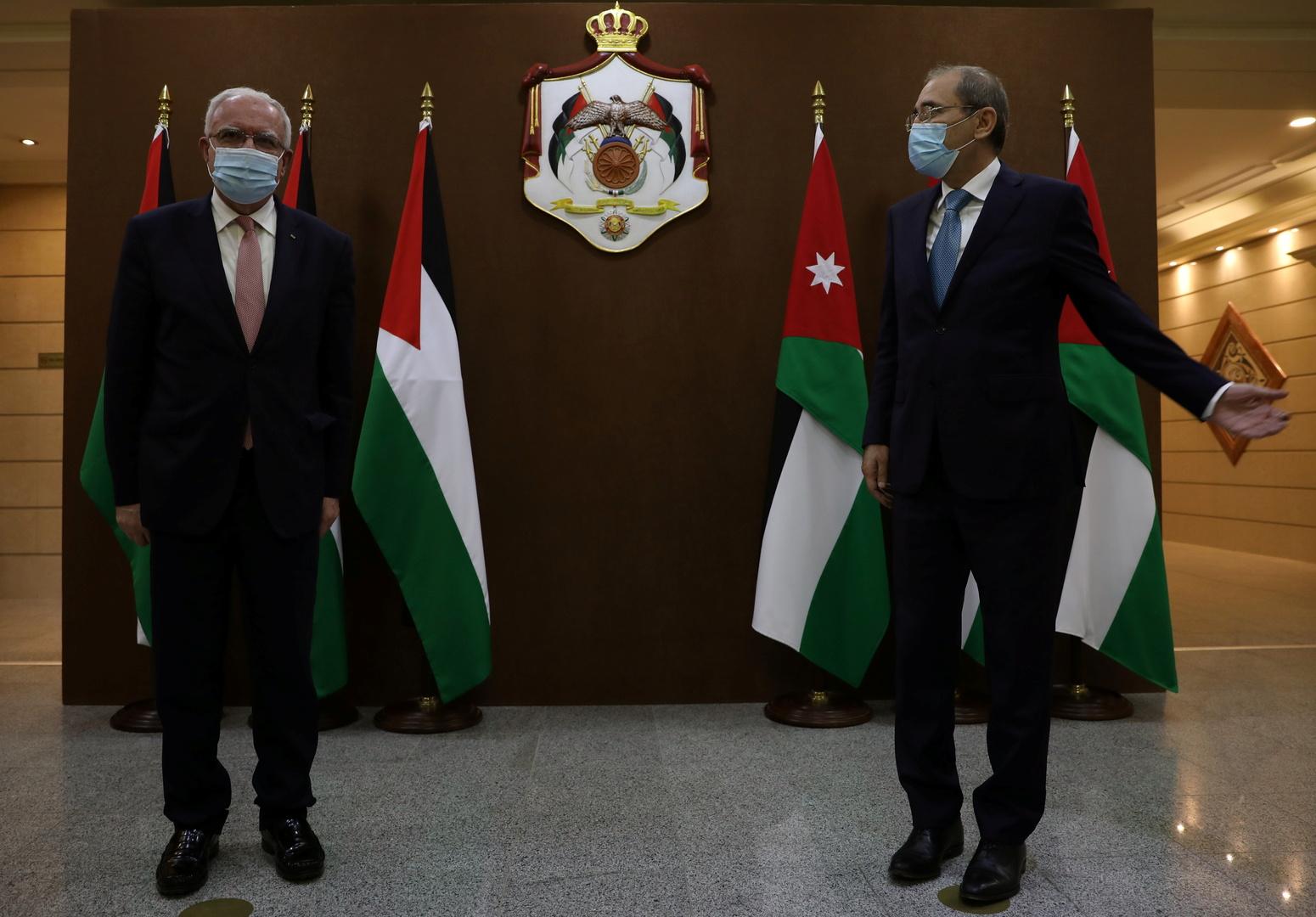 وزير الخارجية الأردني أيمن الصفدي يلتقي بنظيره الفلسطيني رياض المالكي في عمان