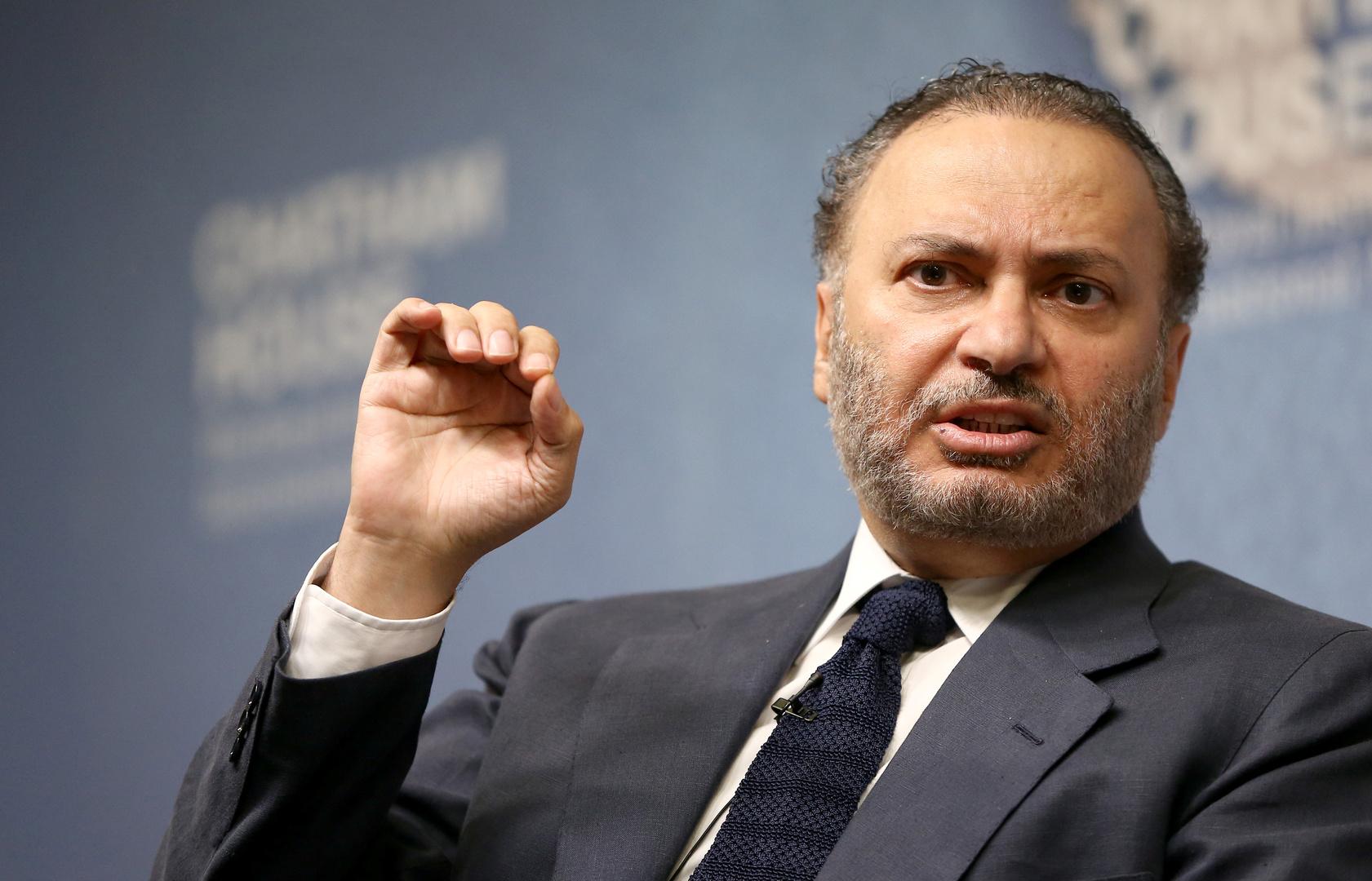 المستشار الدبلوماسي لرئيس دولة الإمارات أنور قرقاش