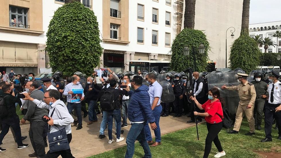Marokkansk politi blokerer protest til støtte for fængslede aktivister