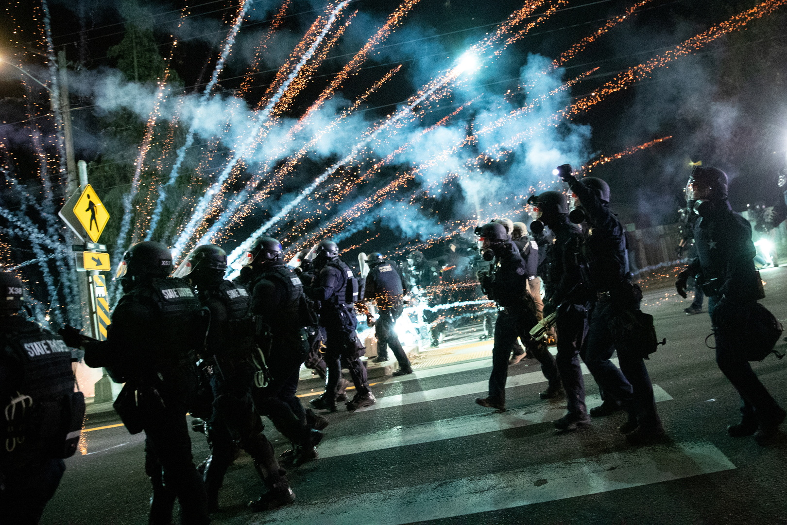 أعمال شغب في بورتلاند خلال مظاهرات لإحياء ذكرى فلويد