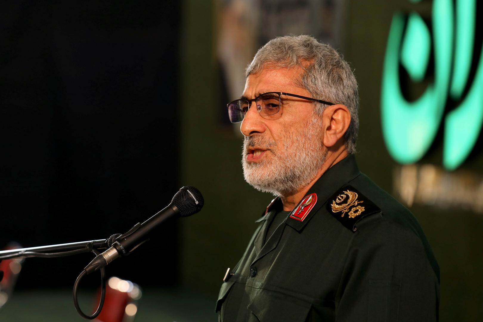 قائد فيلق القدس في الحرس الثوري الإيراني إسماعيل قاآني