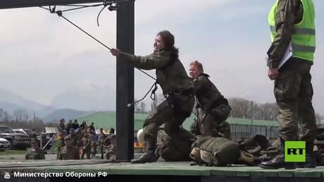 مسابقة النساء العسكريات في فلاديقوقاز الروسية