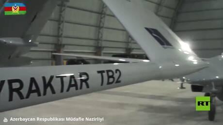 """آذربيجان.. تحليقات درونات """"بيرقدار تي بي 2"""" القتالية"""