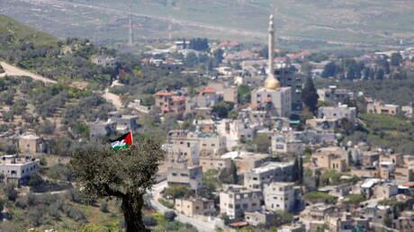 مستوطنون إسرائيليون يحرقون مساحات من أراضي بلدة فلسطينية في نابلس (صور)