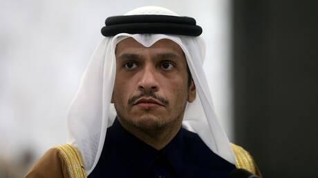 وزير خارجية قطر يعلق على قضية اعتقال وزير المالية