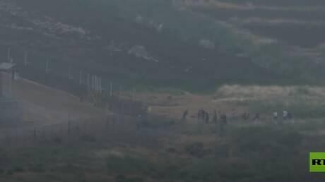 شاهد.. محاولة عبور الحدود إلى داخل إسرائيل