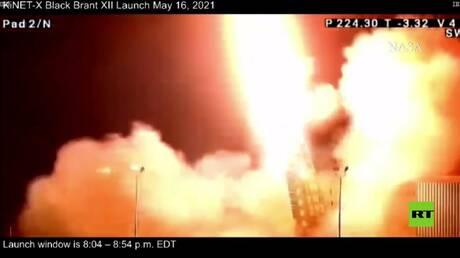 """بالفيديو.. ناسا تنجح في إطلاق صاروخ """"بلاك برانت 12"""" للأبحاث العلمية"""