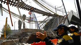 حصيلة ضحايا انهيار جسر المترو في مكسيكو تبلغ 26 قتيلا