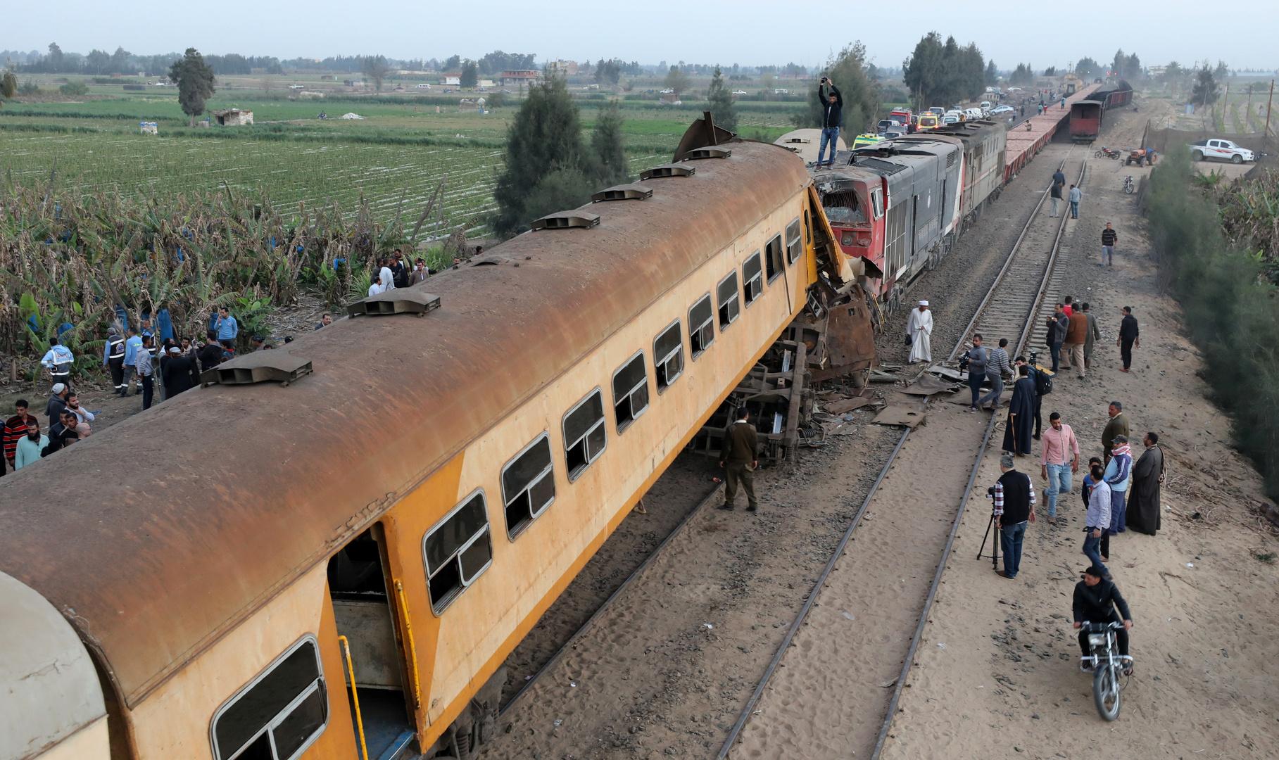 مصر.. خروج قطار بضائع عن القضبان بإمبابة دون وقوع إصابات